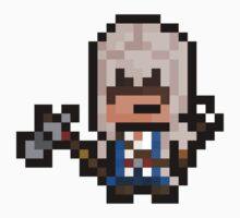 "Pixel Ratonhnhaké:ton / Connor (""Assassins Creed 3"") Sticker by PixelBlock"