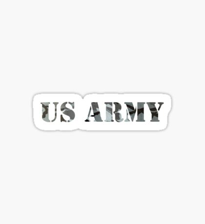 us army camo Sticker