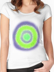vivid target  Women's Fitted Scoop T-Shirt