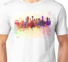 Ankara skyline in watercolor background Unisex T-Shirt