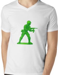 green toy soldier Mens V-Neck T-Shirt