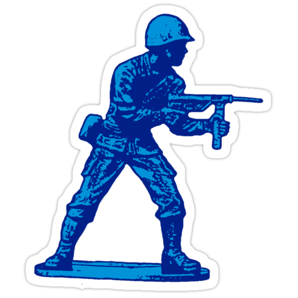 blue toy soldier by red-rawlo
