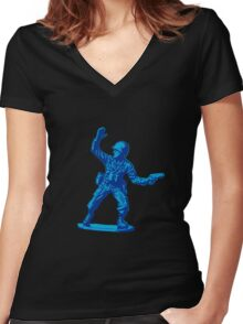 blue toy soldier 2 Women's Fitted V-Neck T-Shirt