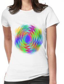 vivid spiral  Womens Fitted T-Shirt