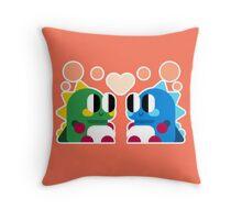 Bubble Bobble Love Throw Pillow
