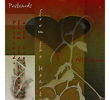 Postcards from the Heart With Love  Photographic Print