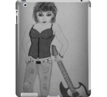 RUBY ROCK CHICK BW iPad Case/Skin