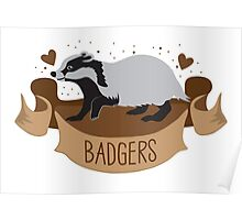 BADGERS banner Poster