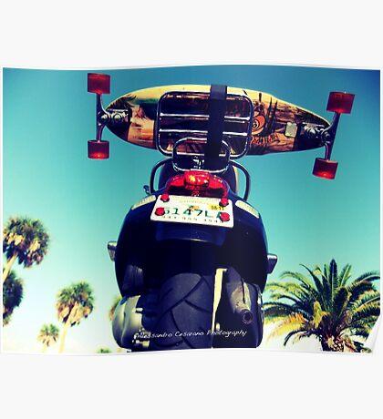 Skate Vespa Poster
