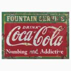Vintage Coke Sign   by David Michael  Schmidt