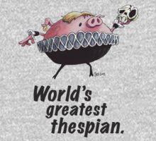 Hamlet - World's Greatest Thespian (Dark text) T-Shirt
