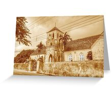St. Francis Xavier Catholic Cathedral in West Street - Nassau, The Bahamas Greeting Card