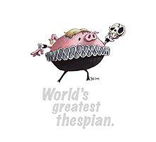 Hamlet - World's Greatest Thespian (Light text) Photographic Print