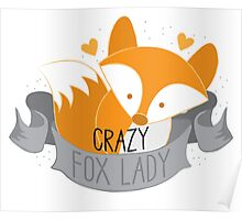 Crazy Fox Lady Banner Poster