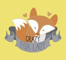 Crazy Fox Lady Banner Kids Tee