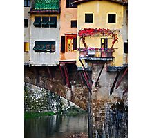 Autumn Ponte Vecchio Photographic Print