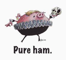 Hamlet - Pure ham (Dark text) Kids Clothes