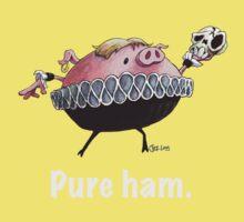 Hamlet - Pure ham (Light text) Kids Clothes