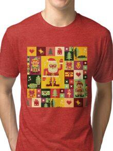 Christmas Pattern No. 1 Tri-blend T-Shirt