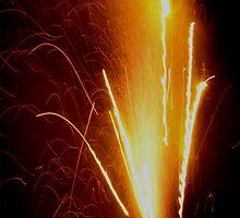 Orange Spark Glow by Sculpmation
