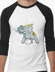 the white elephants Men's Baseball ¾ T-Shirt