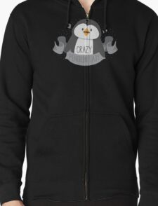 Crazy penguin Lady Banner Zipped Hoodie