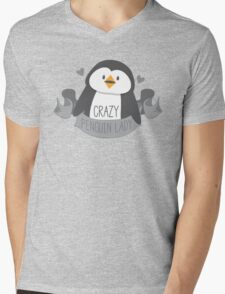 Crazy penguin Lady Banner Mens V-Neck T-Shirt