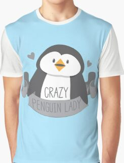 Crazy penguin Lady Banner Graphic T-Shirt
