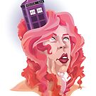 The Girl with the TARDIS in her Hair by everchangingINK