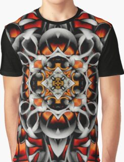 Abstract Perceptions in Red Graphic T-Shirt