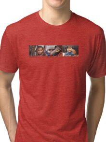 Mama & Baby Triptych Tri-blend T-Shirt
