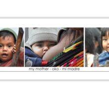 Mama & Baby Triptych Sticker