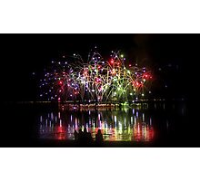 Firework Reflections Photographic Print