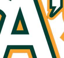oakland athletics logo Sticker