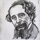 Portrait of Charles Dickens by andrea v