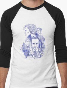 Sherlock Holmes Illustration Men's Baseball ¾ T-Shirt