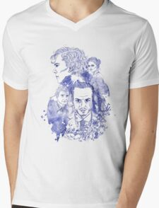 Sherlock Holmes Illustration Mens V-Neck T-Shirt