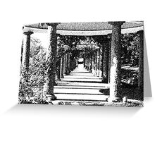 Columns in Ink Greeting Card