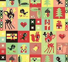 Christmas Pattern No 2. by chobopop