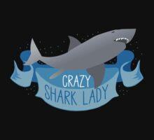 Crazy Shark Lady Banner Kids Clothes