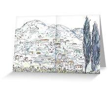 Amalfi Village Greeting Card