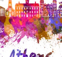 Athens OH skyline in watercolor Sticker