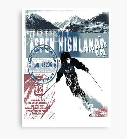 aspen highland skiiing Canvas Print