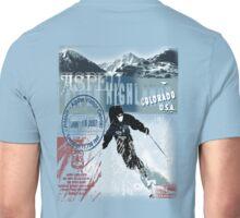 aspen highland skiiing Unisex T-Shirt