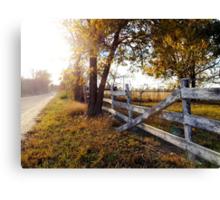 Fallen Fence in Autumn Beauty Canvas Print