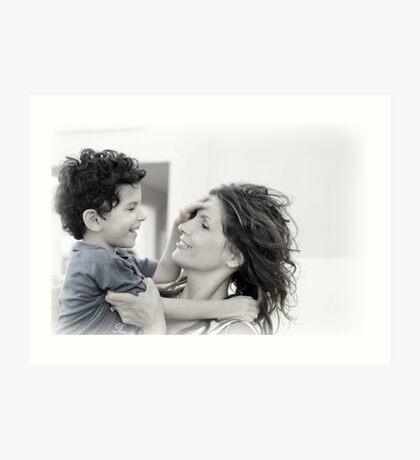 Mother & Son Art Print