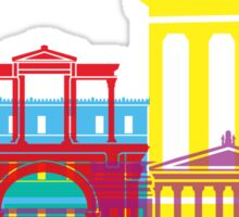 Athens skyline pop Sticker