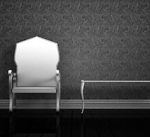 Elegant Chair Black and White by crystofurr