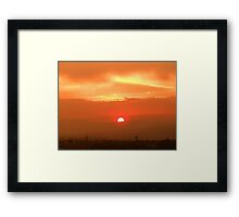 ©HCS Red Sun I Framed Print