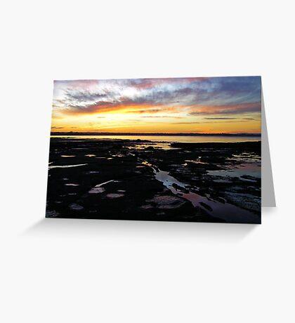 Sunset pools Greeting Card